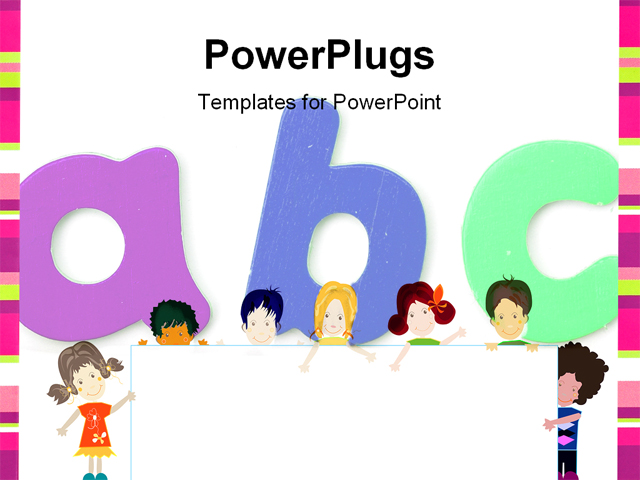 Children Playing Educational Template For Powerpoint Bella