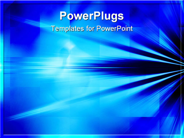PowerPoint Template - Blue Rays of Light Background Abstract - Title Slide