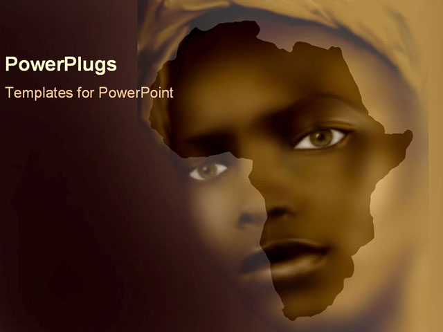 african girls fac over shape of africa powerpoint