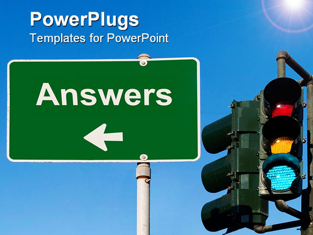 powerpoint template a sign and a traffic signal with