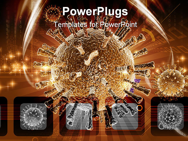 pretty virus powerpoint template free download photos >> hiv aids, Powerpoint templates