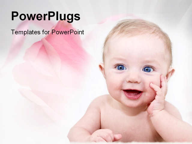 PowerPoint Template - Very cute baby posing - Title Slide