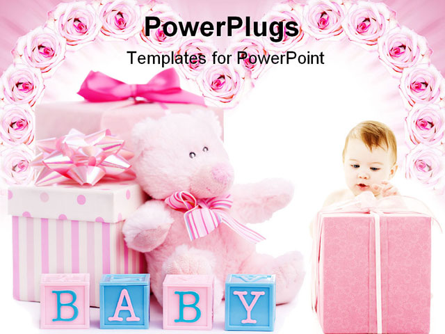free girl baby shower powerpoint templates