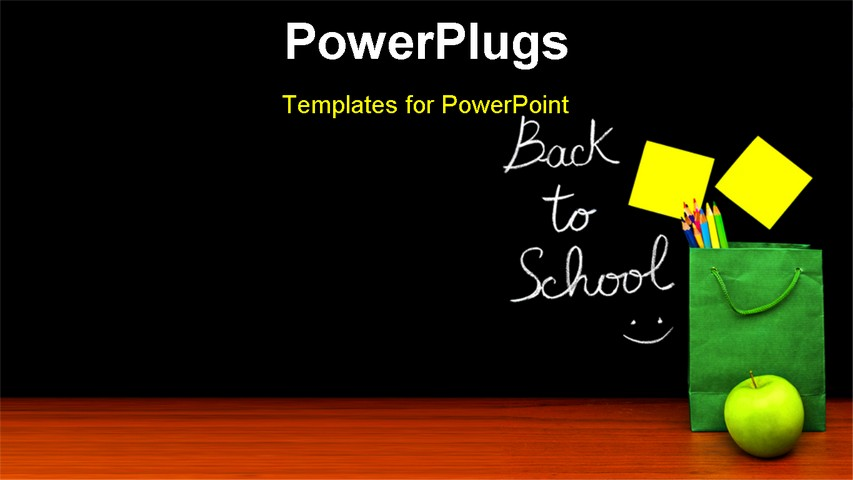 Back to school powerpoint template back to school powerpoint back to school concept colorful students accessories in back to school powerpoint template toneelgroepblik Image collections