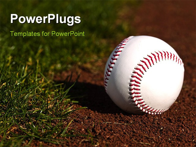 Free baseball powerpoint template