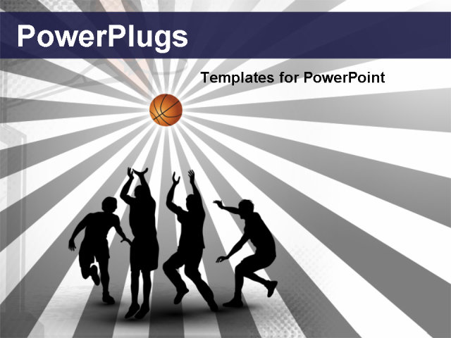 Basketball Court Background Powerpoint Eps 10 powerpoint template