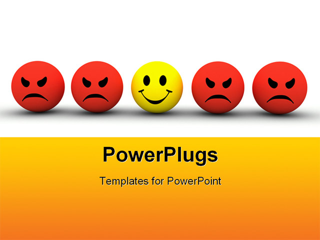 Powerpoint Template A Number Of Smileys In A Line 3252