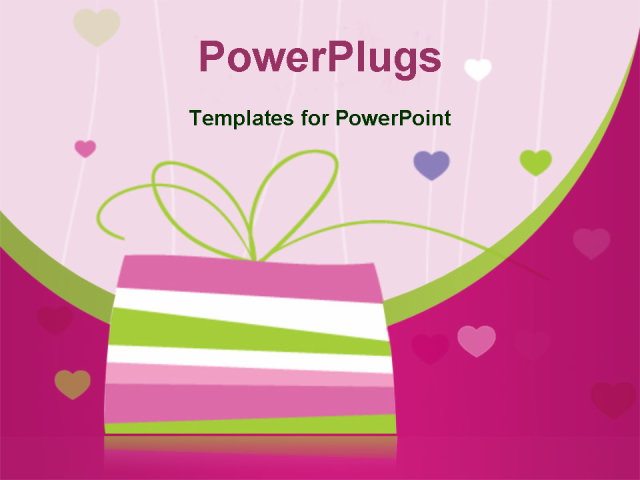 birthday card with copy space powerpoint template