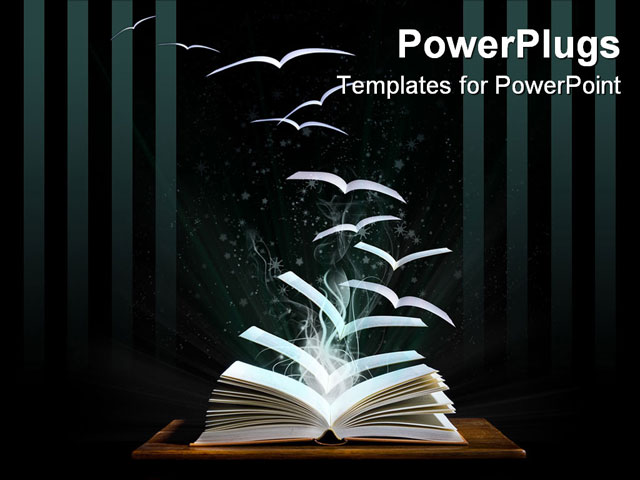 Images of literature power point background sc magic book with pages transforming into birds powerpoint toneelgroepblik Images