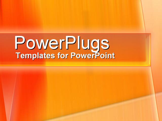 Creatively orange powerpoint template background of orange energy