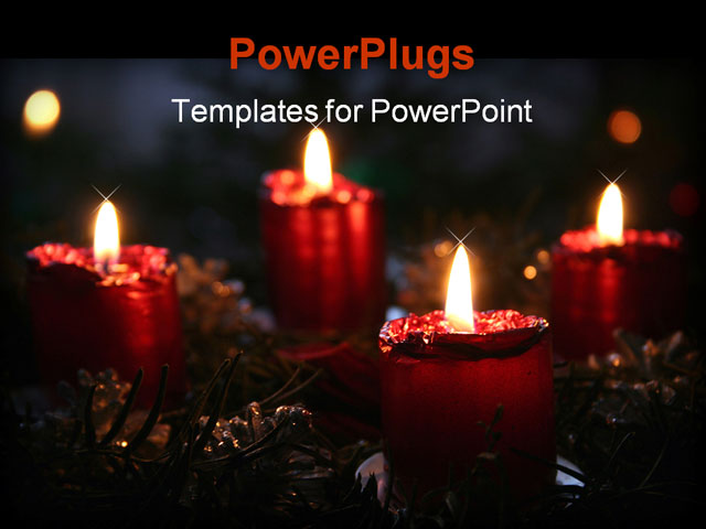 Advent Powerpoint Background Ppt template - an advent