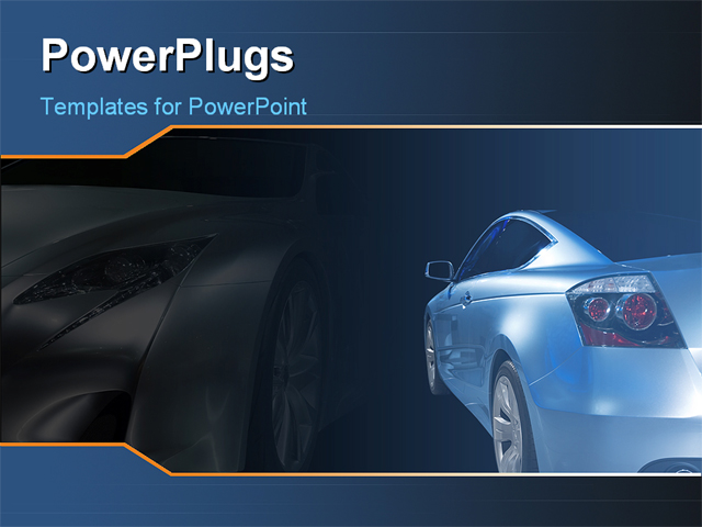 powerpoint template a luxurious car with its shadow in