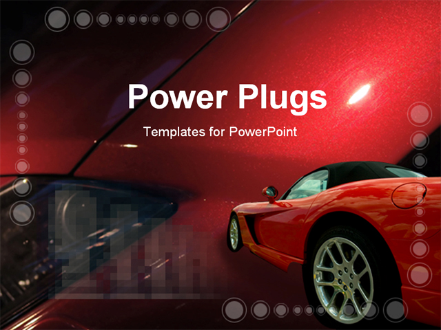 Luxury car in a red background powerpoint template for Affordable furniture redcar