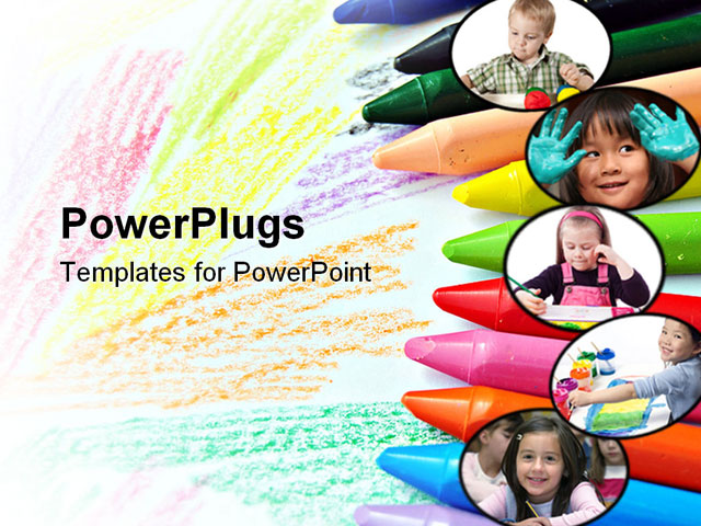Crayons background powerpoint powerpoint template pic source toneelgroepblik Choice Image