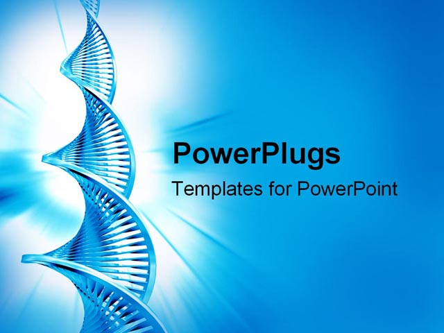 best powerpoint template dna strand background about