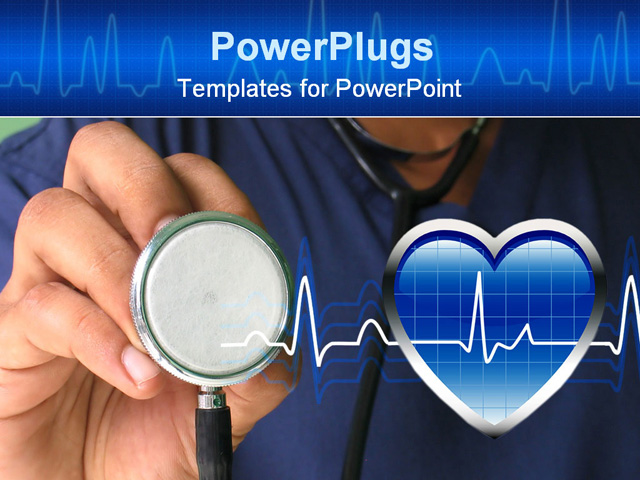Images of nursing backgrounds for powerpoint sc male nurse holding stethoscope powerpoint template toneelgroepblik Choice Image