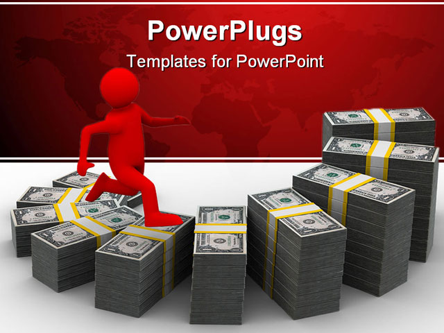 PowerPoint Template - diagramme of financial growth. - Title Slide