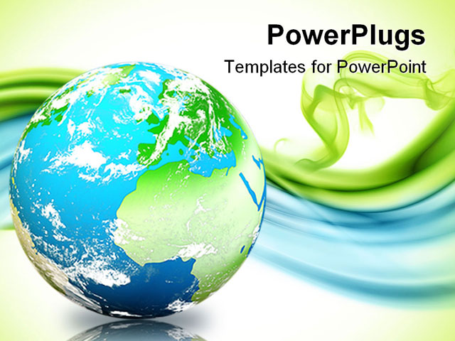 PowerPoint Template about earth digital illustration, abstract, background