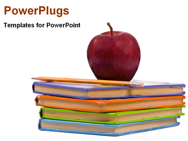 book powerpoint template background of education books pencil ed