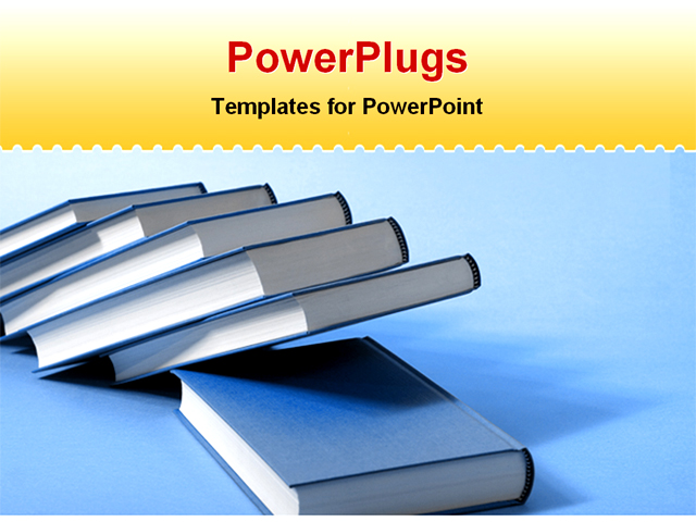 PowerPoint Template about education, book, blue