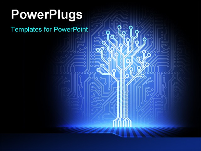 PowerPoint Template: an illuminated part of a circuit (11049)
