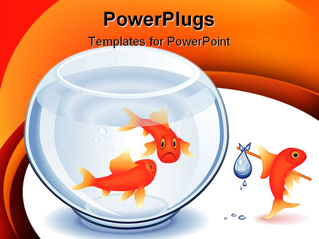 Goldfish moving from his fishbowl - 58.5KB