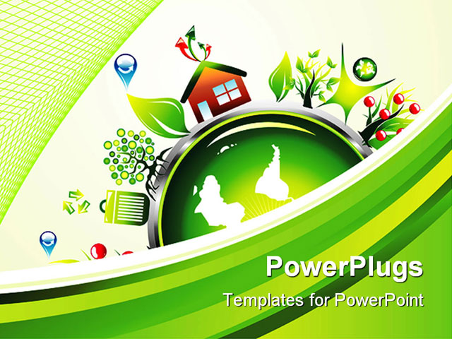PowerPoint Template about concept, conservation, cycle