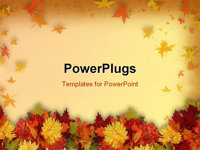powerpoint template halloween and thanksgiving theme with