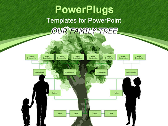 PowerPoint Template about blank, family, family tree