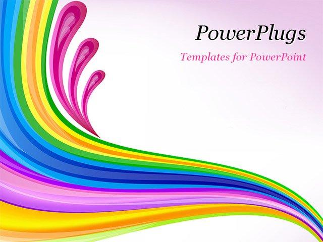 Best PowerPoint Template - Floral art design decor blue background ...