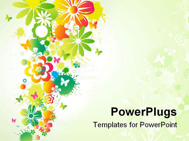 flower illustration powerpoint templates ppt background car pictures