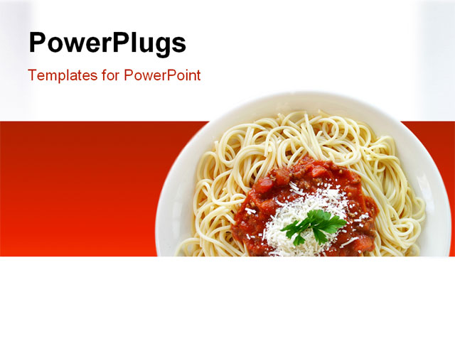 Powerpoint template spaghetti with tomato sauce 12722 for Asian cuisine ppt