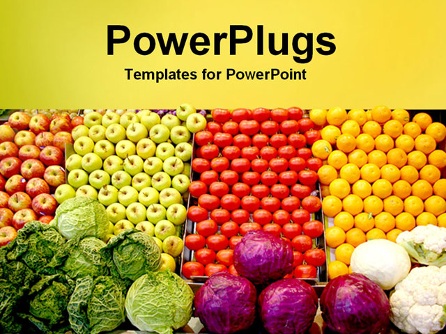 Fruits and vegetables background for powerpoint powerpoint template piles of toneelgroepblik Images
