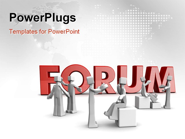 Discussion forum template powerpoint template about