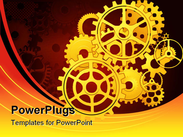 illustration vector of gears in motion powerpoint
