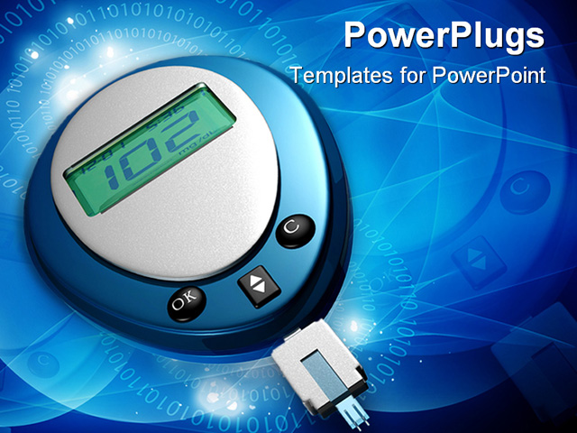 diabetes powerpoint templates  diabetes research, Powerpoint