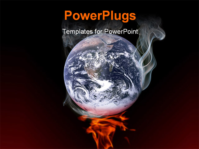 Global warming ppt free global warming powerpoint template sketchbubble the earth smoking on fire global warming concept global warming ppt free toneelgroepblik Images
