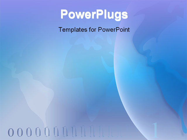 PowerPoint Template - globe map background design - Title Slide