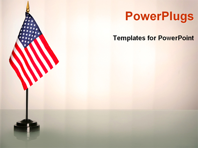 Usa Flag In A American Government Office Powerpoint Template Background Of Government Red Blue