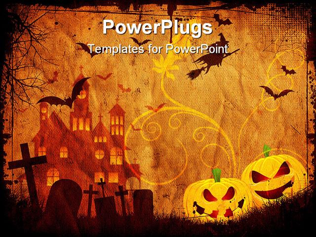 halloween background template, Powerpoint
