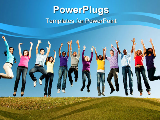 Youth powerpoint powerpoint templates free download youth jdap info powerpoint template group of smiling young people jumped youth powerpoint toneelgroepblik Choice Image