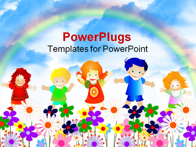 children backgrounds for powerpoint powerpoint template kids