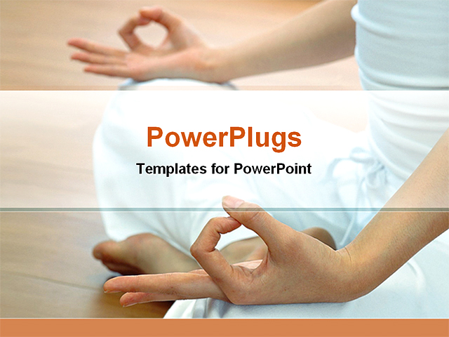 Images of yoga powerpoint template backgrounds sc a woman in a yoga class powerpoint template background of toneelgroepblik Images