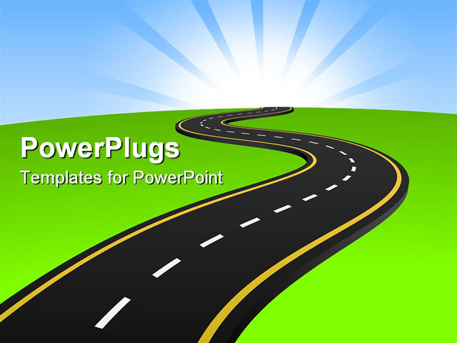 powerpoint road map slide template