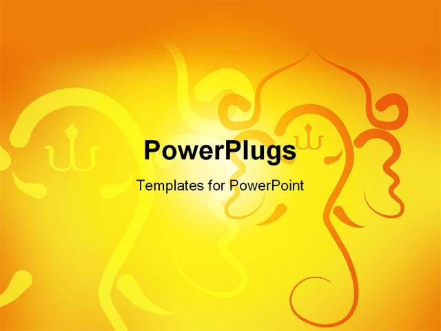 powerpoint template sunshine in yellow background with