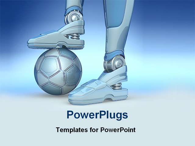 Backgrounds for ppt robot backgrounds 3backgrounds image of a robot with football powerpoint template toneelgroepblik Gallery