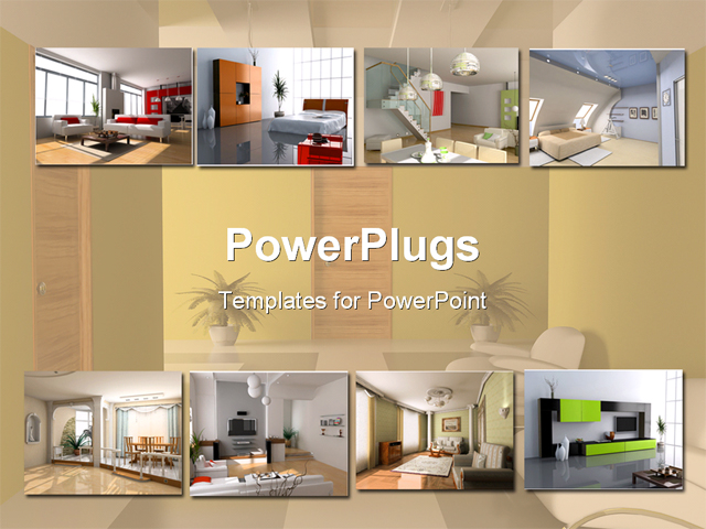 Powerpoint template interior design apartment modules for Apartment design ppt