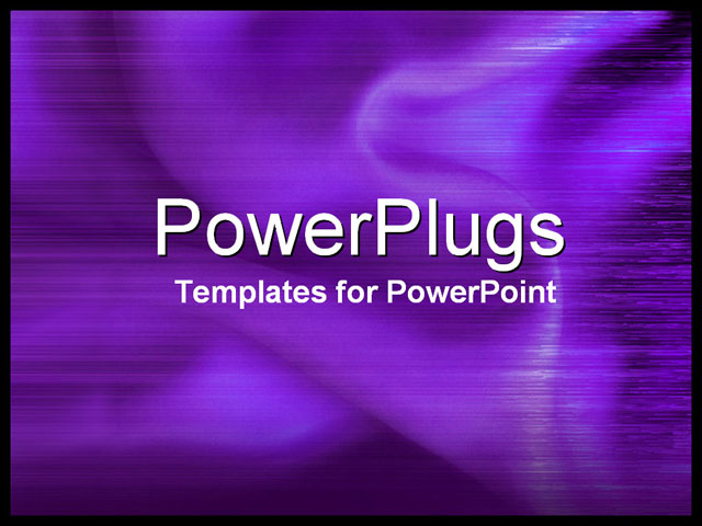 PowerPoint Template - close-up purple silky fabric - Title Slide