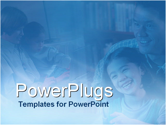 PowerPoint Template - parents and children - Title Slide