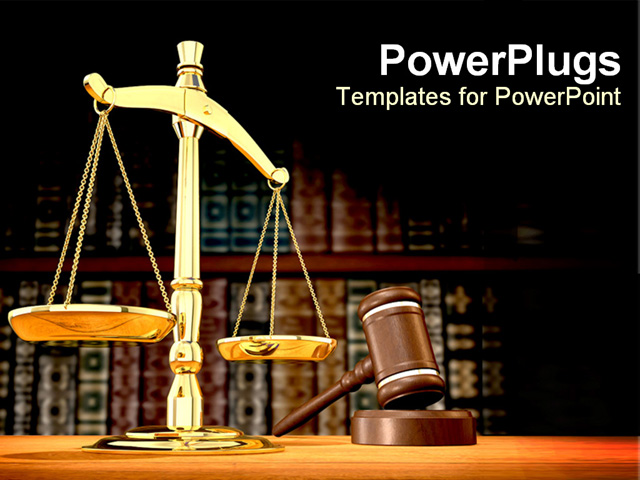 PowerPoint Template - justice807 - Title Slide